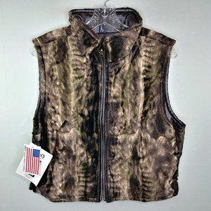 Skea NWT Reversible Morgan Seal Faux Fur Vest